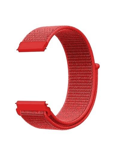 Microsonic Realme Rma207 Watch S Hasırlı Kordon Woven Sport Loop Beyaz Kırmızı